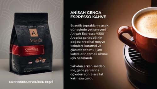 Anisah Genoa Espresso Kavrulmuş Çekirdek 1000g - Thumbnail