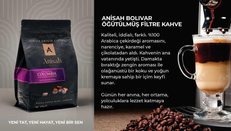 Anisah Bolivar Öğütülmüş Filtre Kahve 500g