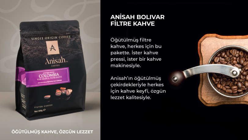 Anisah Bolivar Çekirdek Filtre Kahve 1000 Gram