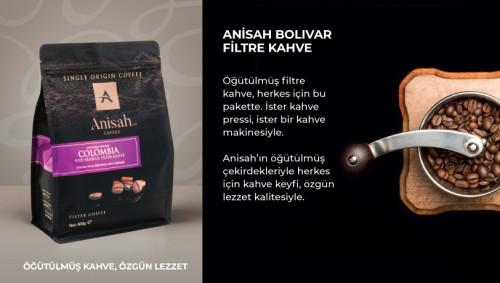 Anisah Colombia Bolivar Filtre Kahve 1000 Gram - Thumbnail
