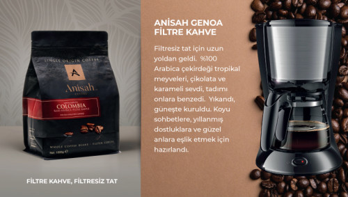 Anisah Colombia Genoa Filtre Kahve 1000 Gram - Thumbnail