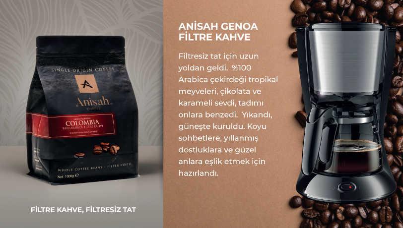 Anisah Genoa Çekirdek Filtre Kahve 1000 Gram