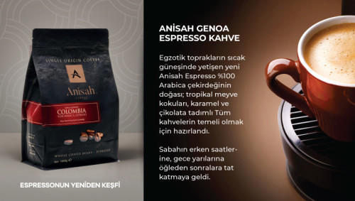 Anisah Colombia Genoa Espresso 1000 Gram - Thumbnail