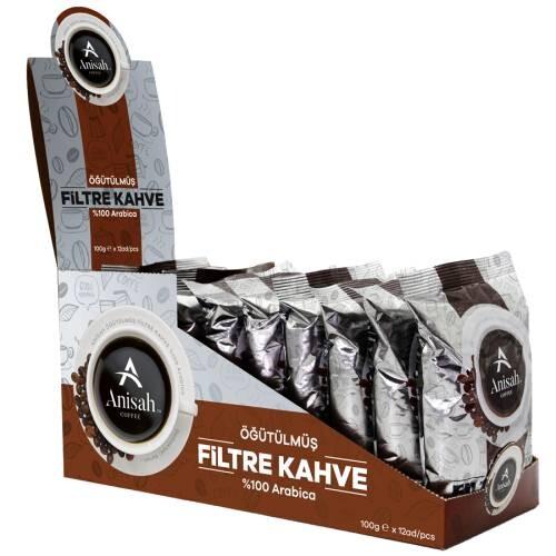 - Anisah Öğütülmüş Filtre Kahve </br> (12'li ekonomik paket)