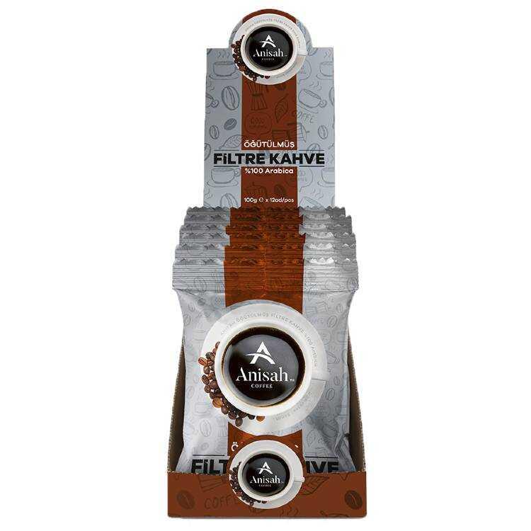 Anisah Öğütülmüş Filtre Kahve </br> (12'li ekonomik paket)