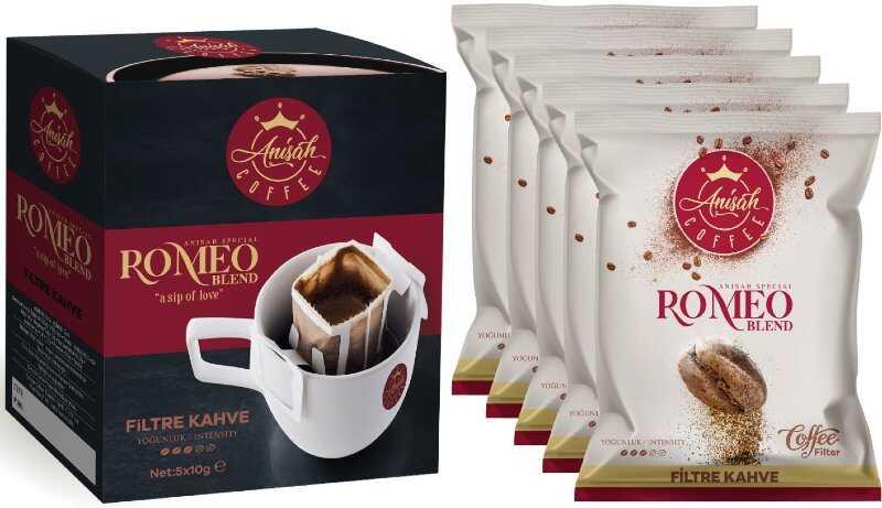 Pratik Filtre Kahve Romeo Blend 5'li Paket
