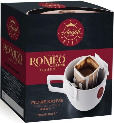 - Pratik Filtre Kahve Romeo Blend 5'li Paket